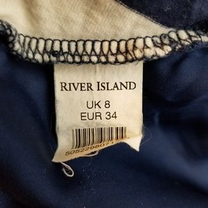 River Island Tops - River Island Sheer Back Striped Tunic Size 8